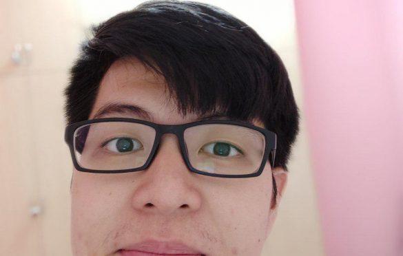 Selfie in portrait mode
