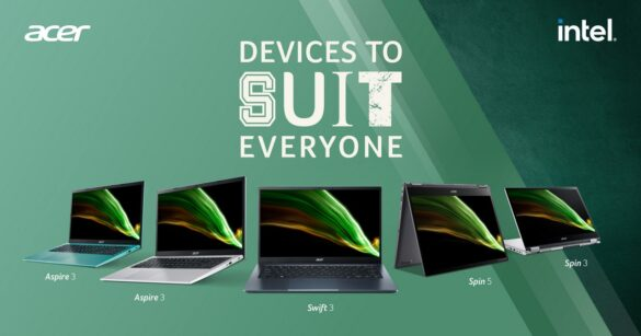 Acer New Lifestyle Products Laptops Acer Spin Series, Acer Swift 3 and Acer Acer Aspire 3
